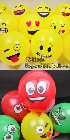 12 inch big eyes smiling face balloon thick balloon big eyes smile printing  Expression BALLOON Birthday wedding decoration