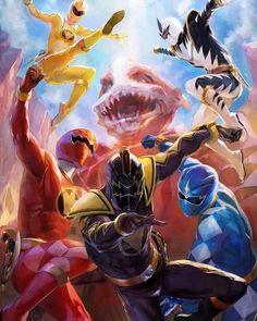 Power Rangers Art, Painting, Painting Art, Paintings, Painted Canvas, Drawings