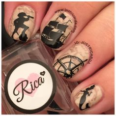 Nautical Nails / Pirates / Rica / www.justricarda.com
