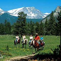 Horseback and Trail Rides in Estes Park, Colorado and Rocky Mountain National Park