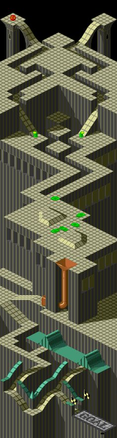 Marble Madness — Amiga version (1986), level 3/6
