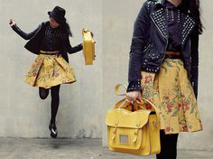 Studs with floral (by Shan  Shan) http://lookbook.nu/look/2646975-studs-with-floral