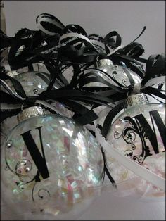 Black and white ornaments
