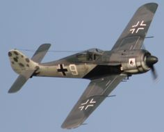 "Focke Wulf FW190...Another great WWII fighter.  ""nd inflicted cruel punishment to Allied bombers flying over Europe. Highly respected by Allied pilots, the Fw-190 was a superb fighter, fighter-bomber and anti-tank aircraft. Oberleutnant Otto Kittel scored most of his 267 kills in a Fw-190, forever immortalizing him as the fourth top scoring ace of the Luftwaffe."""