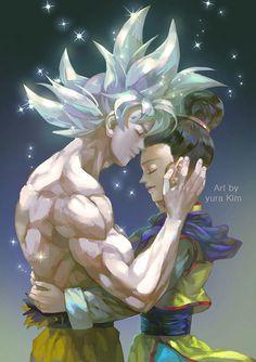 Adorable Goku and Chichi