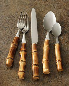 Juliska bamboo cutlery from Neiman Marcus.