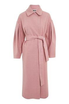 Mutton Sleeve Belted Coat
