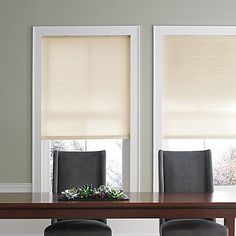 The lightweight Real Simple Cordless Cellular Shade features a semi-opaque fabric that filters light while providing privacy. The shade is cordless and provides improved safety for homes with children. A honeycomb construction helps to insulate rooms.