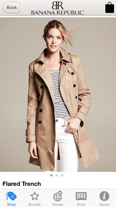 Trench Coat-flared