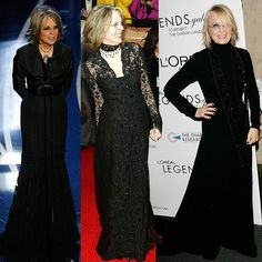 Diane Keaton- always stunning. One of those ladies that looks even better as she ages!