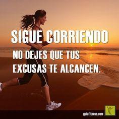 Motivacion de ejercicio - sigue corriendo. Running Workouts, Running Tips, Nike Running, Fit Motivation, Weight Loss Motivation, Runners Motivation, Motivation Quotes, Running Inspiration, Fitness Inspiration