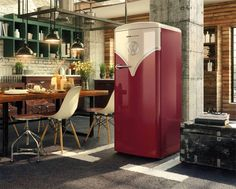 Gorenje Kühlschrank Retro Vw : Gorenje obrb r vw bulli retro kühlschrank in burgund