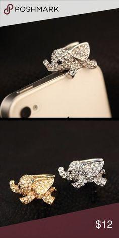 Elephant Headphone Dust Plug🐘 Elephant Rhinestones Headphone Jack Dust Plug.                                                                 🔹Size: Standard 3.5mm🔹                                                                  🌟Brand New🌟 Accessories Phone Cases