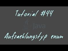 """Tutorial #44 - enum - JAVA Anfänger In dieser Episode schauen wir uns den Aufzählungstyp """"enum"""" an und sehen einige Beispiele dazu.  Zum Weiterlesen: http://docs.oracle.com/javase/tutorial/java/javaOO/enum.html http://openbook.rheinwerk-verlag.de/javainsel9/javainsel_09_004.htm#mj2f6d324dfd3b9293fe6312045c460ad3 http://www.javaseiten.de/ch01s11.html  Link zum Code: https://bitbucket.org/alexschellenberg/java-anfaenger-yt/src  Favorisieren, Daumen hoch, Teilen und was auch immer - falls es…"""