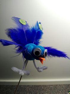 en blå påfugl
