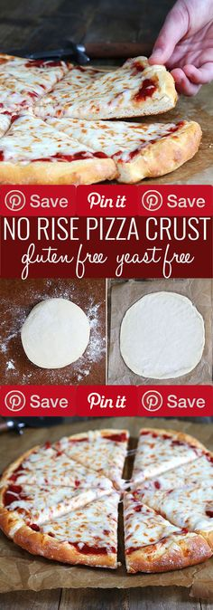 Yeast Free Gluten Free Pizza Two Ways If youre looking for a way to get dinner on the table FAST this gluten free pizza dough recipe without yeast is exactly what you need! pizzas