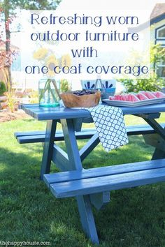 Refreshing Worn Outdoor Furniture with One Coat Coverage - The Happy Housie