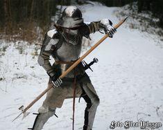 German armor and a pole arm