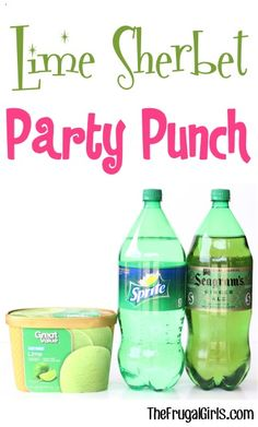 Lime Sherbet Green Party Punch Recipe from TheFrugalGirls.com