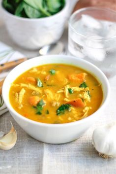 Creamy Coconut Curry Chicken Vegetable Soup ~ An immune boosting, bone warming, nutrient packed meal your body will thank you for.