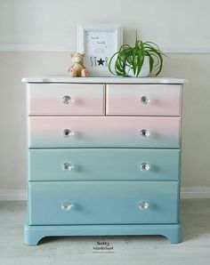 Colorful Dresser Dresser Ombre Effect Nursery Furniture Girl Room Upc . Colorful Dresser Dresser Ombre Effect Nursery Furniture Girl Room Upc . Chest Of Drawers Makeover, Diy Dresser Makeover, Furniture Makeover, Chest Drawers, Furniture Outlet, Discount Furniture, Furniture Ideas, Girl Room, Girls Bedroom