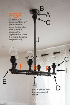 New Diy Furniture Pipe Light Fixtures Ideas - Pipe Lighting, Industrial Lighting, Lighting Design, Decor Industrial, Industrial Chandelier, Industrial Pipe, Modern Industrial, Vintage Industrial, Diy Luminaire