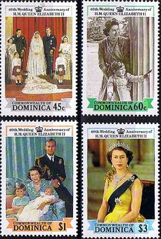 Dominica 1988 Ruby Wedding Set Fine Mint                    SG 1109 12 Scott 1064 7 Other Royal stamps HERE