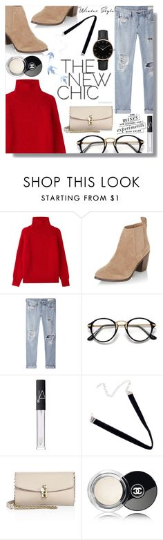 """Red Sweater"" by loloksage on Polyvore featuring Vanessa Bruno, New Look, rag & bone/JEAN, NARS Cosmetics, Dolce&Gabbana, Kate Spade, Chanel and Topshop"