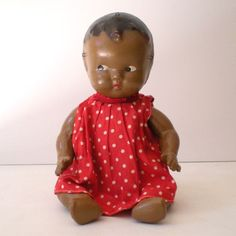 1930s Composition Black Americana Baby Doll