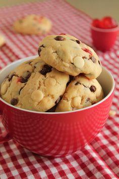 Μπισκότα με δύο σοκολάτες και κεράσια και ευχαριστώ! - The one with all the tastes