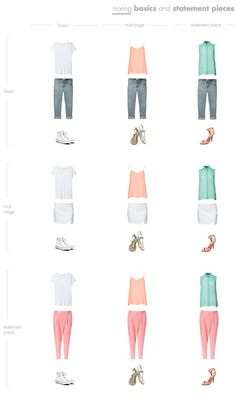 Mixing Basics and Statement Pieces / 20-Piece Capsule Wardrobe with Basics and Statement Pieces