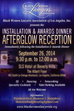 Flyer design for a Black Women Lawyers Association of Los Angeles event. #event #party #LosAngeles