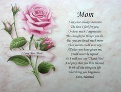 Birthday Poems For Moms In Heaven