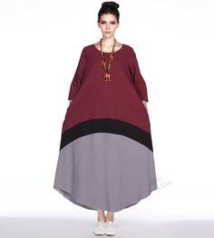 Any size Joint linen dress lantern dress plus size by AnySize