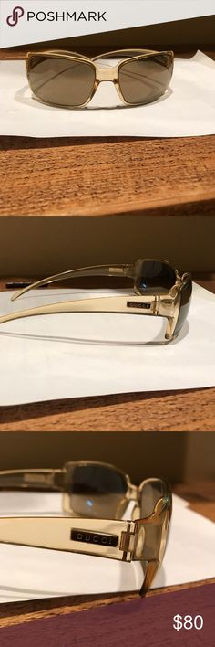 Gucci sunglasses Plastic light amber color. Gucci Accessories Sunglasses