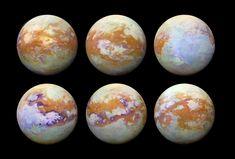NASA's Cassini spacecraft used infrared cameras to map beneath the surface of Saturn's moon Titan. (Credit: NASA/JPL-Caltech/University of Nantes/University of Arizona) Cosmos, Les Satellites, Saturns Moons, Organic Molecules, Moon Surface, Nasa Missions, Nasa Images, Universe Today, Planetary Science