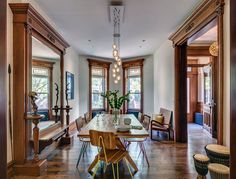 late 19th century Brooklyn rowhouse dining room  (photo by Francis Dzikowski)