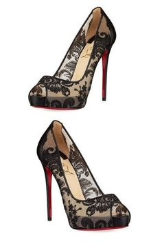 d7a46bce1e I am in love with these lace pumps