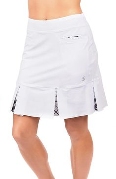 "Check out what Loris Golf Shoppe has for your days on and off the golf course! SPECIAL Sofibella Ladies 18"" Pull On Golf Skorts - COLORS COLLECTION (White)"