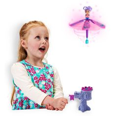 Watch the magical Fantasy Flyer twirling and dancing into the sky. Pull the flag and watch the fairy spin into the air! For Ages 6+