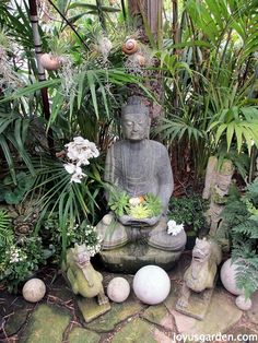 The Buddha would look lovely in our Balinese inspired garden