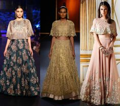 Tips to flaunt the contemporary cape lehengas – The Cape trend is here and is being flaunted over sarees, gowns, dresses, lehengas and kurtas in many different and innovative ways. The capes are totally Designer Bridal Lehenga, Indian Wedding Outfits, Indian Outfits, Indie Mode, Party Kleidung, Sari Blouse Designs, Cape Dress, Indian Attire, India Fashion