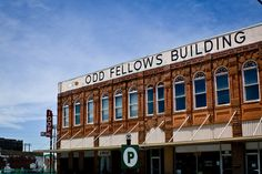 Odd Fellows building in Waxahachie,  Texas. I'm hoping to be a member of this lodge very soon :-)