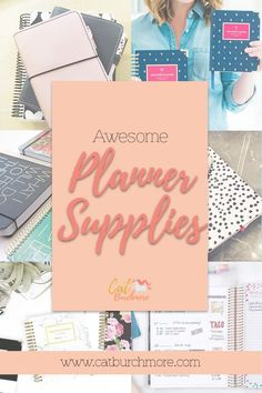 Awesome Planner Supplies | Planner Addict | Planner Love | Entrepreneur | Chronic Entrepreneur | Spoonie | Direct Sales | Chronic Illness via @catburchmore