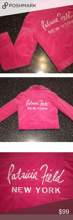 VTG Patricia Field New York Pink Fur Jacket S Extremely rare item from one of the best names in the business.    HOT PINK with Hot Pink fur collar.    This jacket measures 18 inches from armpit to armpit and 20.5 inches from the top of the collar to the bottom hem.    I stand behind all of my items; so please buy with pure confidence! Patricia Field Jackets & Coats Jean Jackets