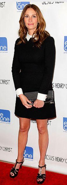Dress - Victoria Beckham Shoes - Yves Saint Laurent YSL Tribute Platform Sandals