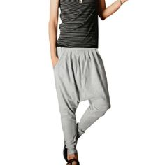 Mens Light Gray Baggy Casual Pants Trousers Harem Stylish W28 Allegra K,http://www.amazon.com/dp/B00AFVHKGQ/ref=cm_sw_r_pi_dp_g0JUsb0S2J2296PD