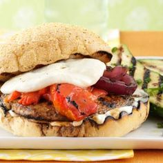 Grilled Portobello Burgers Recipe #FathersDay
