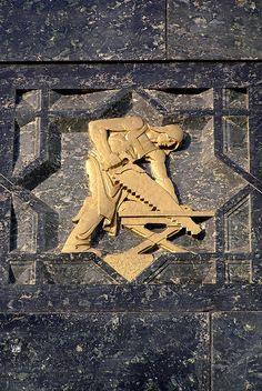 Cycles of Life - Twelve Labors of Man - Carpenter. Exterior of the Perelman buiding.