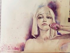 Maddie Drawing |Chandelier - Sia|